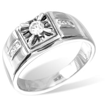 Кольцо  с бриллиантами из белого золота R8739WG
