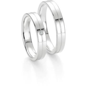 Кольцо Breuning из белого золота 48/04027
