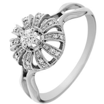 кольцо c бриллиантами из белого золота 13033815