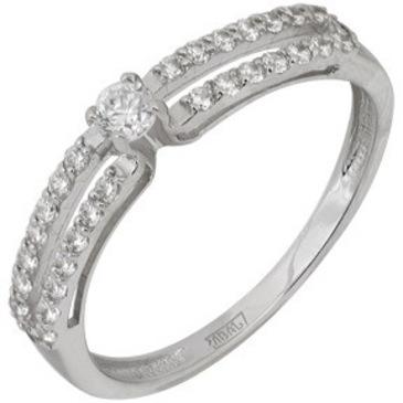 кольцо c бриллиантами из белого золота 13038032
