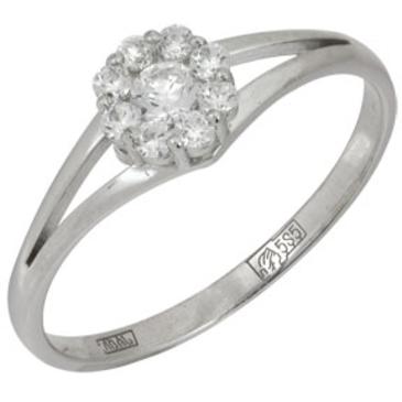 кольцо c бриллиантами из белого золота 13038068