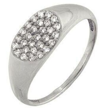 кольцо c бриллиантами из белого золота 1006101651