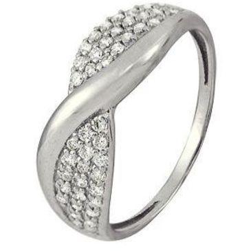 кольцо c бриллиантами из белого золота 1006101733
