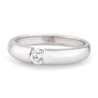 Кольцо c бриллиантами из белого золота Ко19-5Б-1б