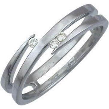 кольцо c бриллиантами из белого золота 13031425