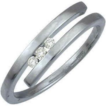 кольцо c бриллиантами из белого золота 13031426