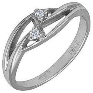 кольцо c бриллиантами из белого золота 13031530