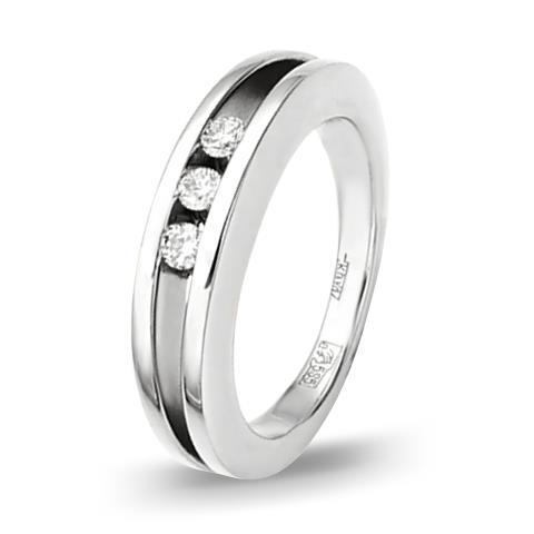 кольцо c бриллиантами из белого золота 13031545