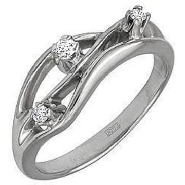 кольцо c бриллиантами из белого золота 13031569