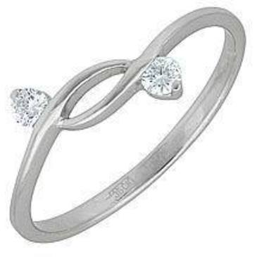 кольцо c бриллиантами из белого золота 13032607
