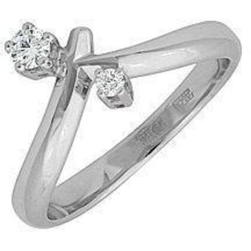 кольцо c бриллиантами из белого золота 13035009