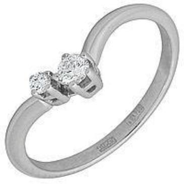 кольцо c бриллиантами из белого золота 13035014