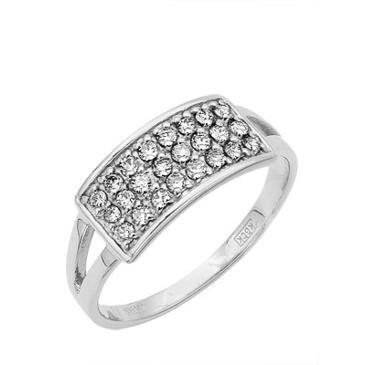 кольцо c бриллиантами из белого золота 13035200