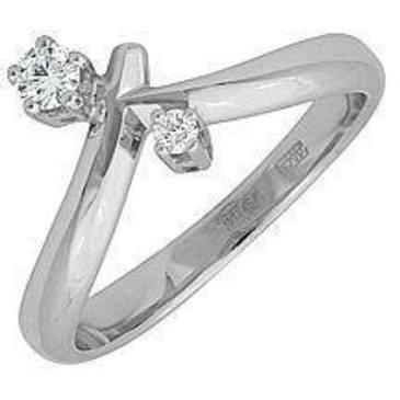 кольцо c бриллиантами из белого золота 18035009