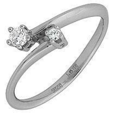 кольцо c бриллиантами из белого золота 18035011