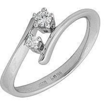 кольцо c бриллиантами из белого золота 18035013