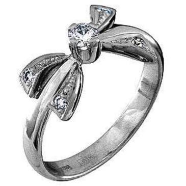 кольцо c бриллиантами из белого золота 1803521