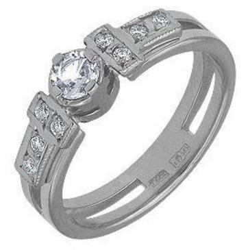 кольцо c бриллиантами из белого золота 13031444
