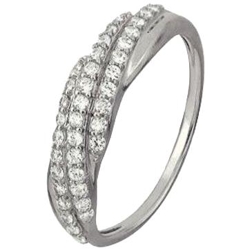 кольцо c бриллиантами из белого золота 1006101726