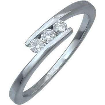 кольцо c бриллиантами из белого золота 13031544