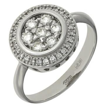 кольцо c бриллиантами из белого золота 13038707