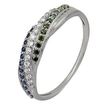 кольцо c бриллиантами из белого золота 1006101726-1