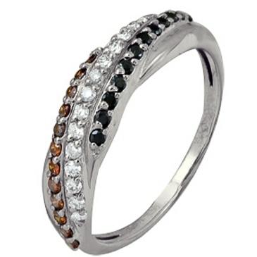 кольцо c бриллиантами из белого золота 1006101726-2