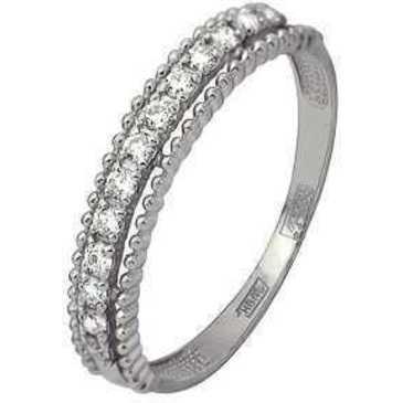 кольцо c бриллиантами из белого золота 13034270