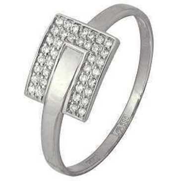 кольцо c бриллиантами из белого золота 13034280
