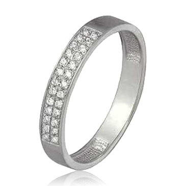 кольцо c бриллиантами из белого золота 13034324