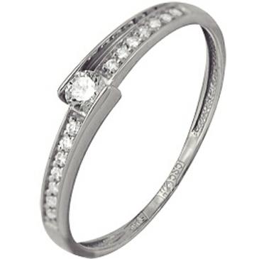 кольцо c бриллиантами из белого золота 13034428
