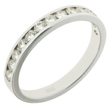кольцо c бриллиантами из белого золота 18037490