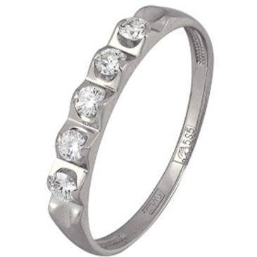 кольцо c бриллиантами из белого золота 13036275