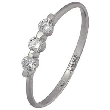 кольцо c бриллиантами из белого золота 13034507