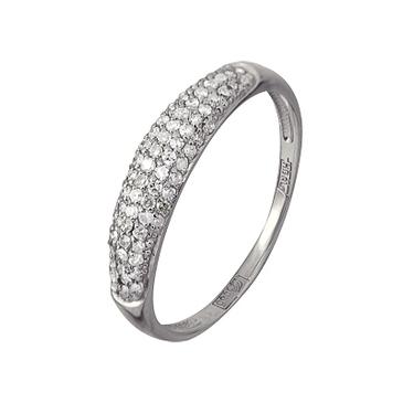 кольцо c бриллиантами из белого золота 13038368