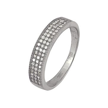 кольцо c бриллиантами из белого золота 13038511