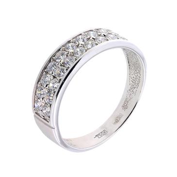кольцо c бриллиантами из белого золота 13038917