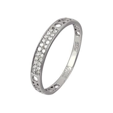 кольцо c бриллиантами из белого золота 13038356