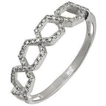 кольцо c бриллиантами из белого золота 1006101617