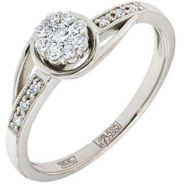 кольцо c бриллиантами из белого золота 13033805