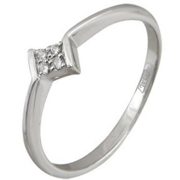 кольцо c бриллиантами из белого золота 13038035