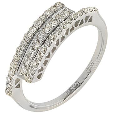 кольцо c бриллиантами из белого золота 13038119