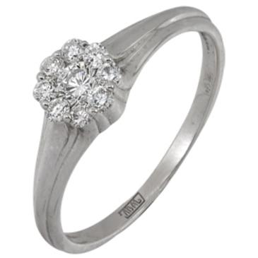кольцо c бриллиантами из белого золота 13038144