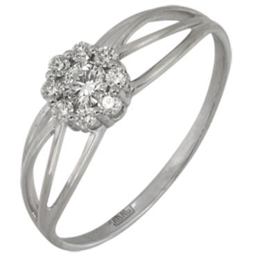 кольцо c бриллиантами из белого золота 13038145