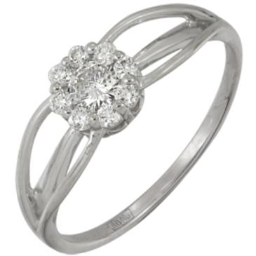 кольцо c бриллиантами из белого золота 13038146