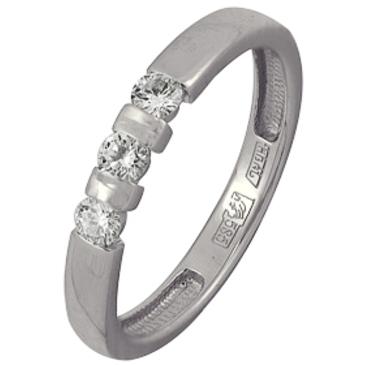 кольцо c бриллиантами из белого золота 13038279