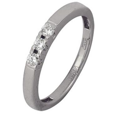 кольцо c бриллиантами из белого золота 13038280