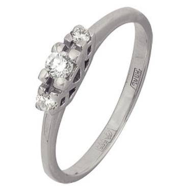 кольцо c бриллиантами из белого золота 13038281