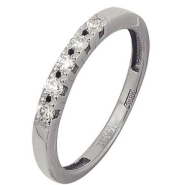 кольцо c бриллиантами из белого золота 13038296