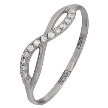 кольцо c бриллиантами из белого золота 13038361